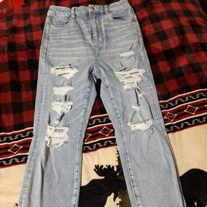 American Eagle Distressed straight leg jeans